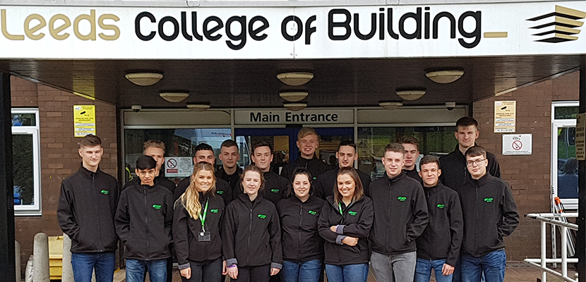 BAM Nuttall apprentices on their first day at LCB
