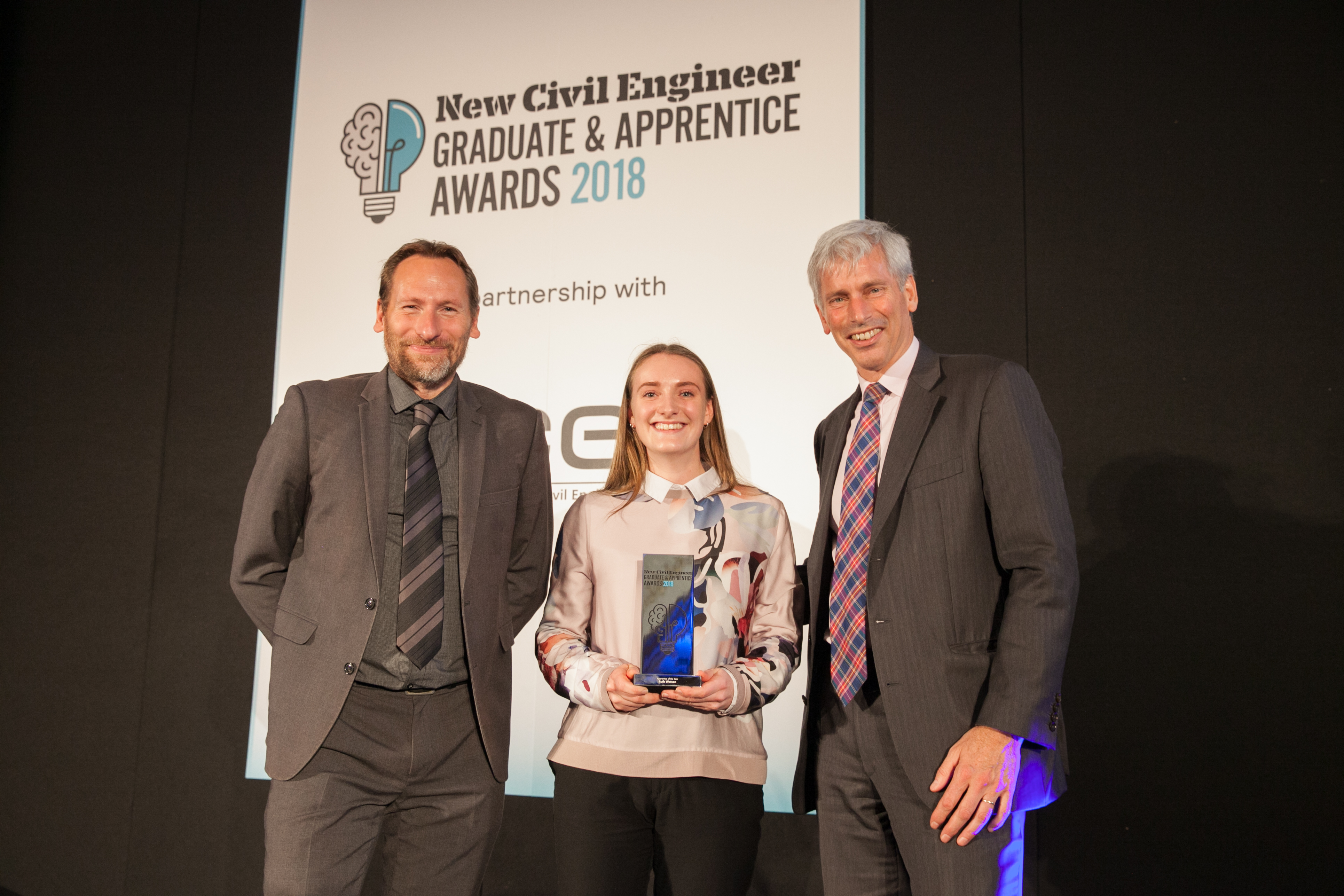 Ruth collecting her award