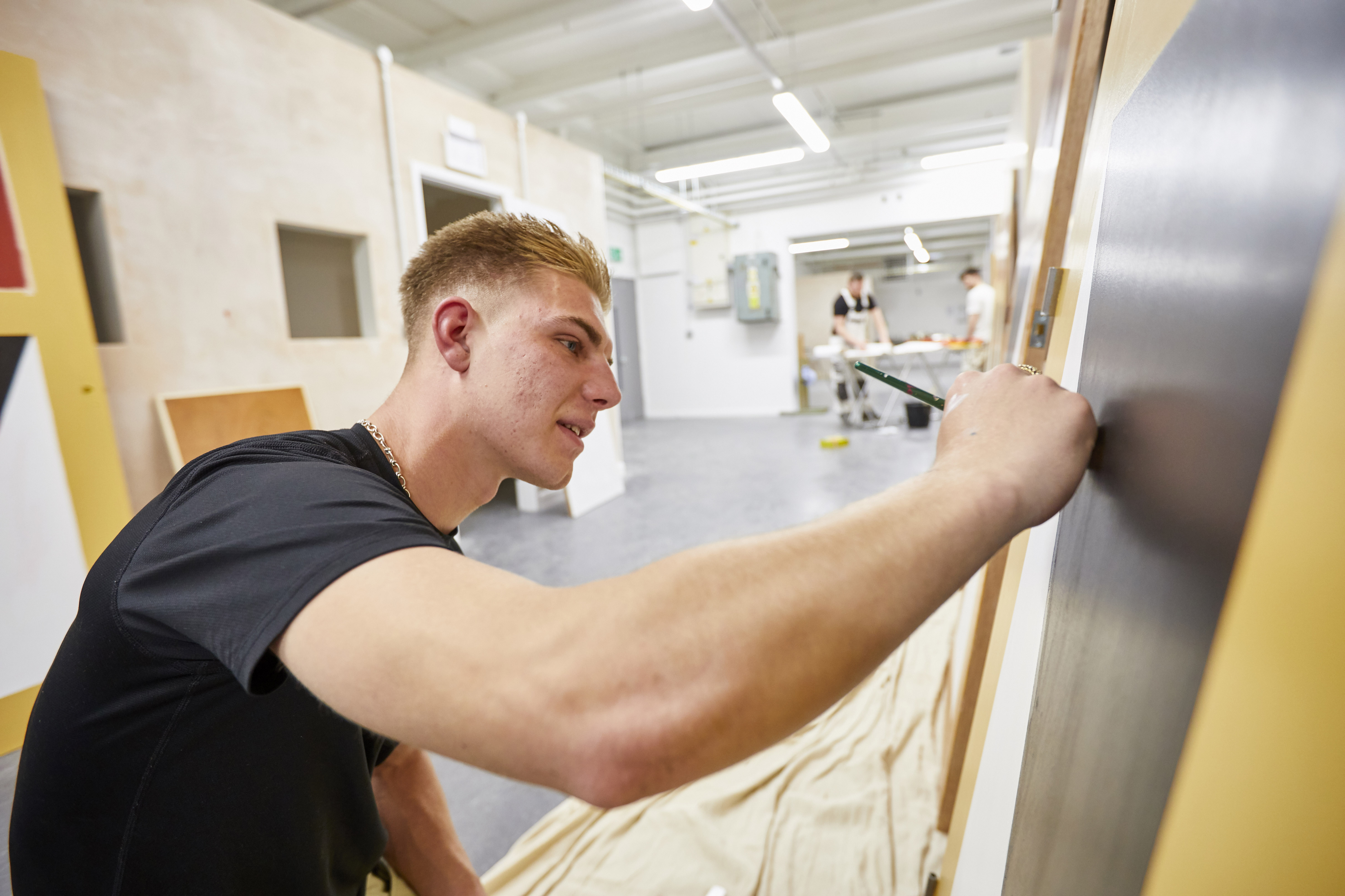 Students begin working in our new Painting & Decorating facilities