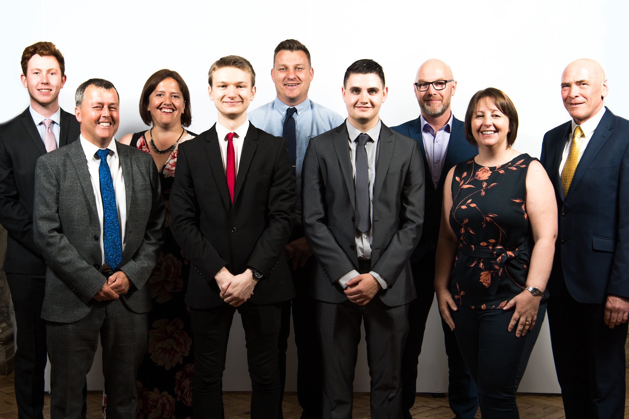 Chris & Connor pictured with LCB staff and representatives from Jacobs and A-one+