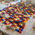 454 hard hats laid out in our bricklaying workshop